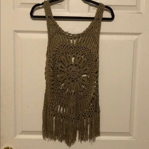 Tops - ❣️3 for $25 - Knit Tank Top with Fringe